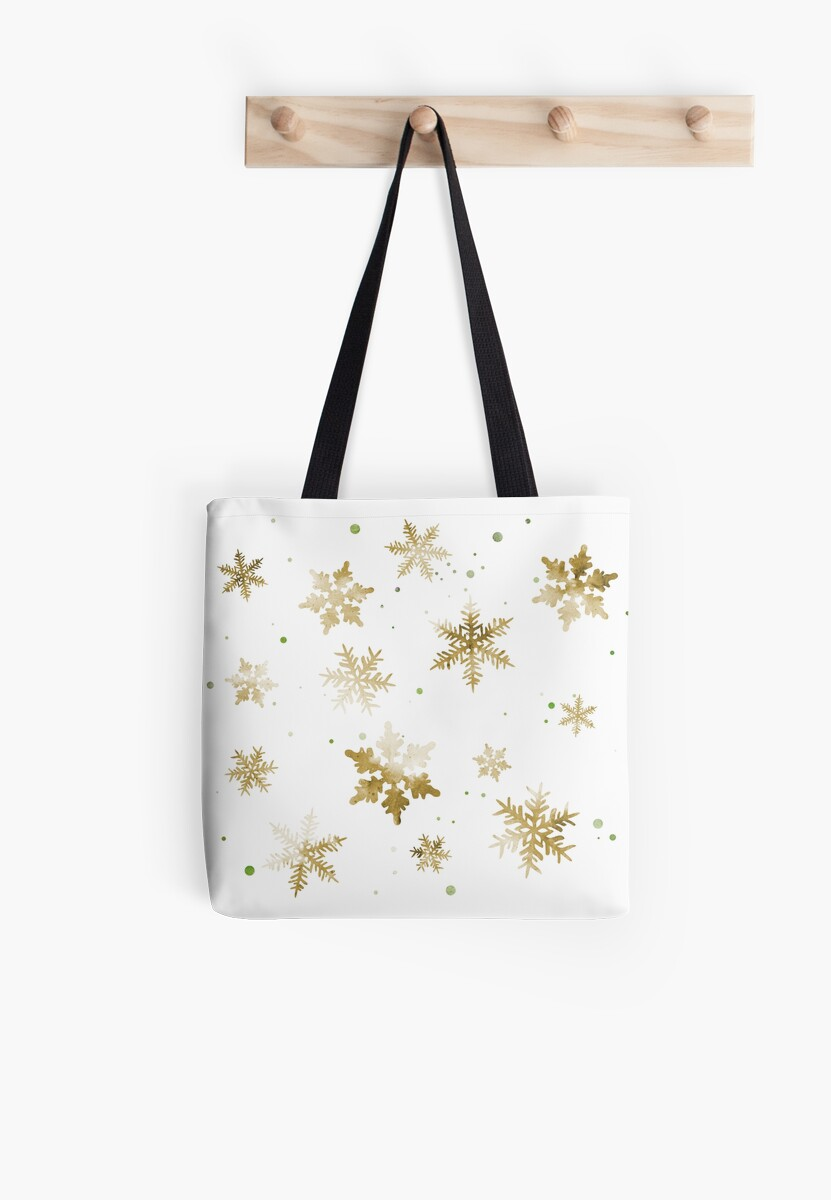 GOLD SNOWFLAKE PATTERN by inkybluemoon