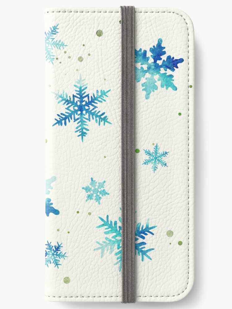 ICY BLUE SNOWFLAKE PATTERN by inkybluemoon