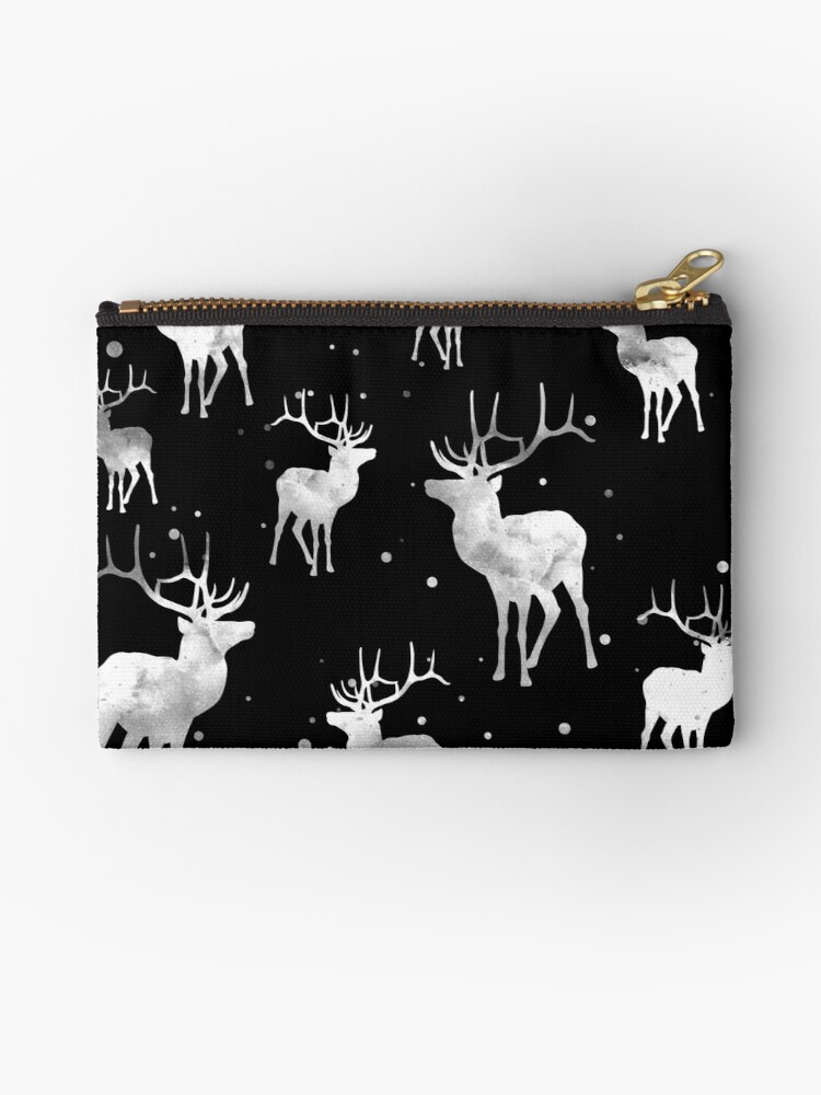 NOIR DEER PATTERN by inkybluemoon