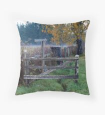 """"""" Fence Line"""" Throw Pillow"""