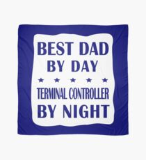Terminal Controller Father Best Dad, Night Shift Work Scarf
