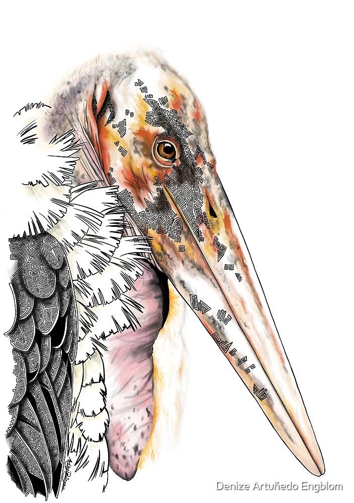 Marabou Stork by Artbydenizeea