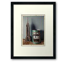 Souvenirs from America - Kodachrome postcard Framed Print