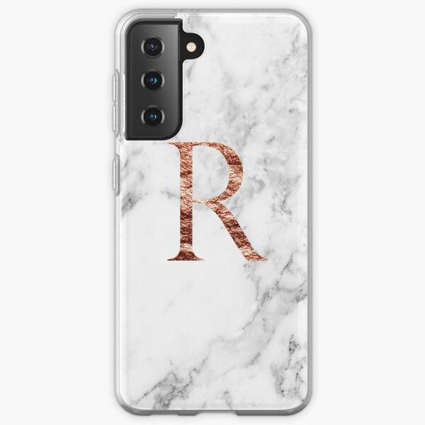 Monogram rose marble R Samsung Galaxy Soft Case