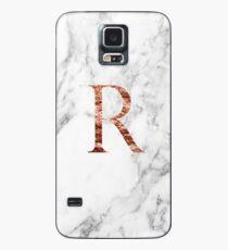 Funda/vinilo para Samsung Galaxy Monograma rosa de mármol R