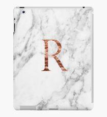 Monogram rose marble R iPad Case/Skin