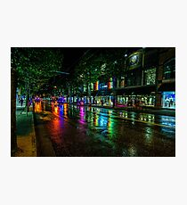 Illuminated night in Vancouver BC, Canada Photographic Print