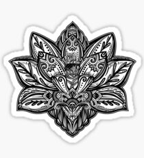 Vector ornamental Lotus flower, ethnic art, patterned Indian paisley. Sticker