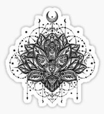Ornamental Lotus flower, ethnic art, patterned Indian paisley. Sticker