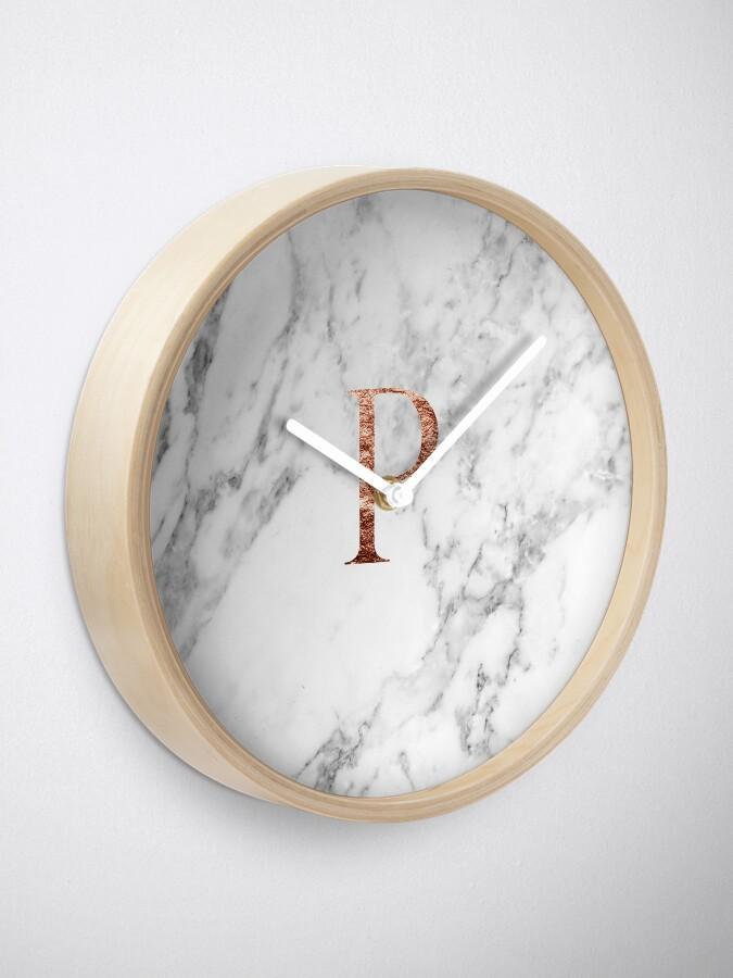 Alternative Ansicht von Monogramm rosafarbener Marmor P Uhr