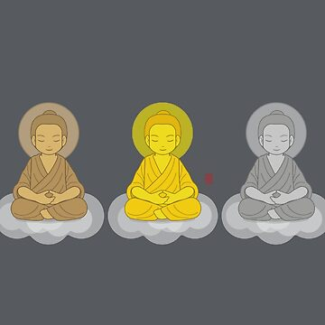 3 Wise Buddhas by 73553