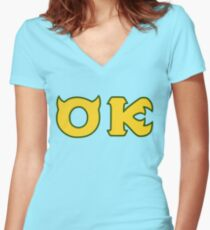 Monsters U: Oozma Kappa Fitted V-Neck T-Shirt