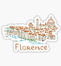 Florenz Firenze Panorama Sticker