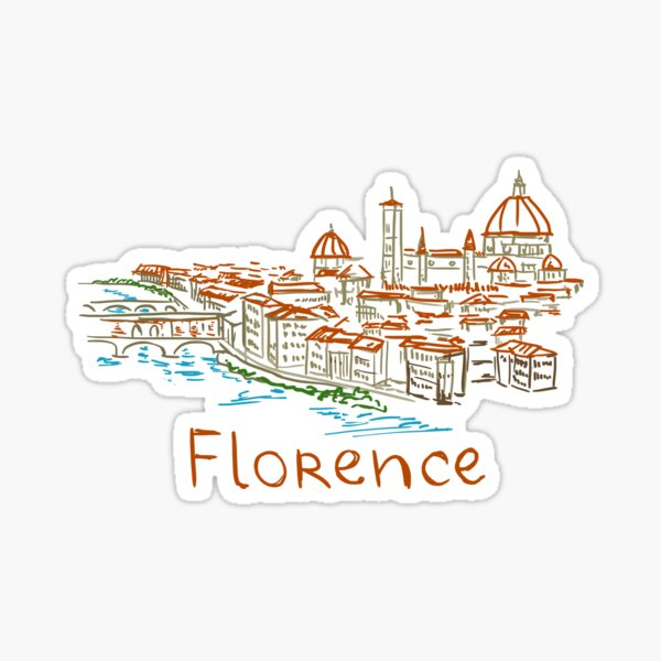 Florence Firenze Panorama Sticker