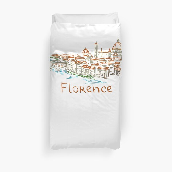 Florence Firenze Panorama Duvet Cover