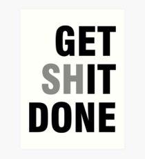 Lámina artística Get Shit Done Emprendedor Negocios Vida Mente positiva Establecer citas motivacionales