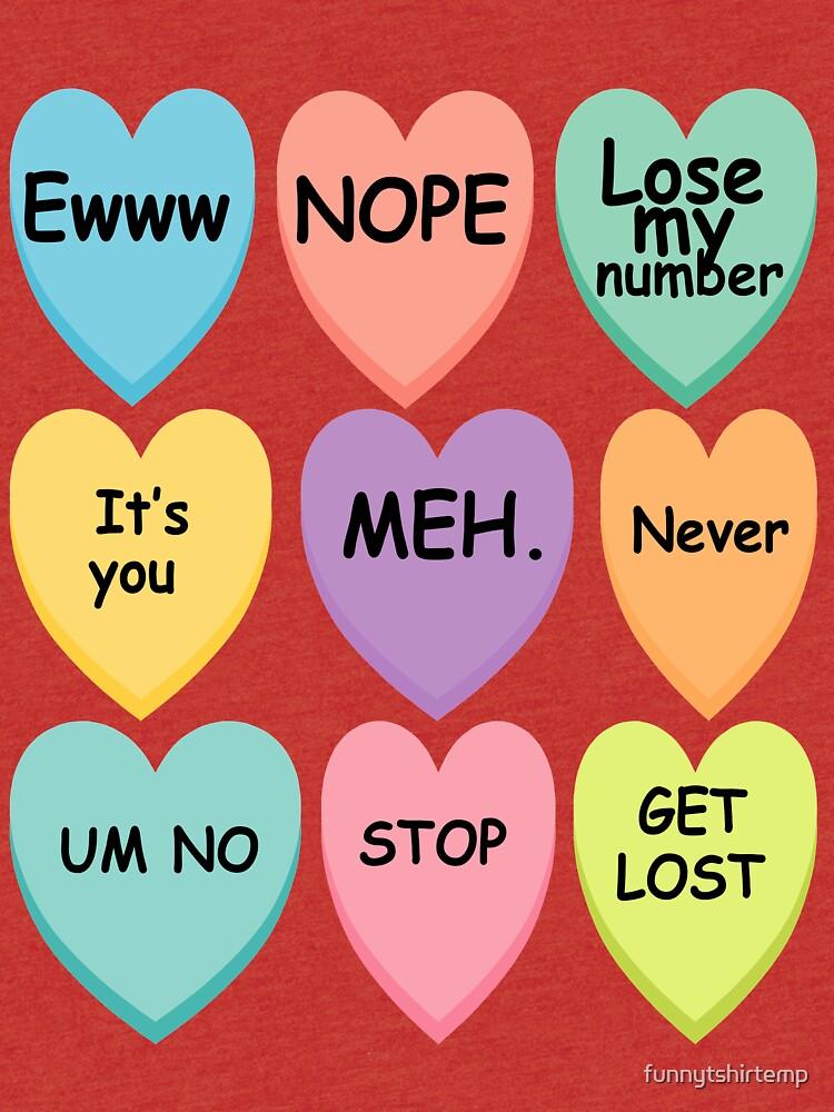 Mean Conversation Hearts Anti Valentine S Day Candy Hearts Tri