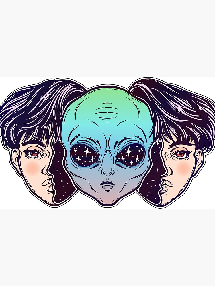 Portriat of the extraordinary alien from outer space face in disguise as a human boy. by KatjaGerasimova