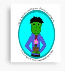 The Green Zombie: Borrow the Earth Canvas Print