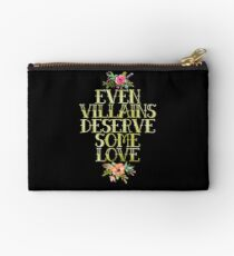 EVEN VILLAINS DESERVE SOME LOVE (GOLD) Studio Pouch