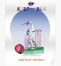 English Cricket Keep Calm and play the ball Poster
