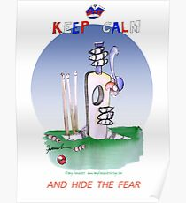 English Cricket Keep Calm and hide the fear Poster