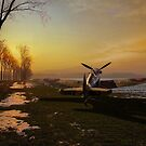 Spitfire in winter by Gary Eason
