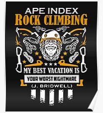 Ape index rock climbing Poster
