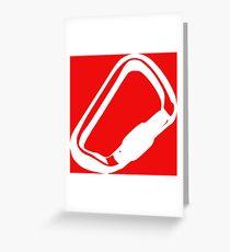 Kletter-Gear: Karabiner Greeting Card