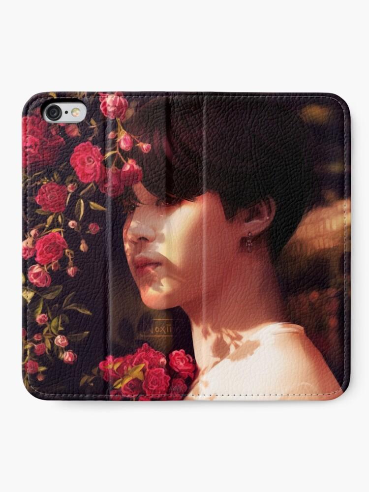 """Alternative Ansicht von """"Als du mich angerufen hast, bin ich deine Blume geworden."""" iPhone Flip-Case"""