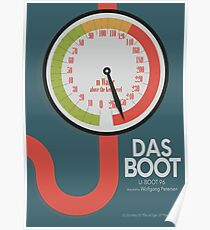 Minimal movie poster for Das Boot, (U-boat 96), Wolfgang Petersen film about a nuclear submarine in World war II, german cinema Poster