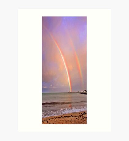 Rainbows Over Fremantle  Art Print