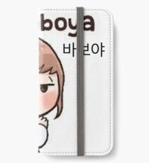 Cute korean girl - Silly sign iPhone Wallet/Case/Skin