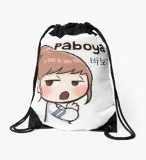 Cute korean girl - Silly sign Drawstring Bag
