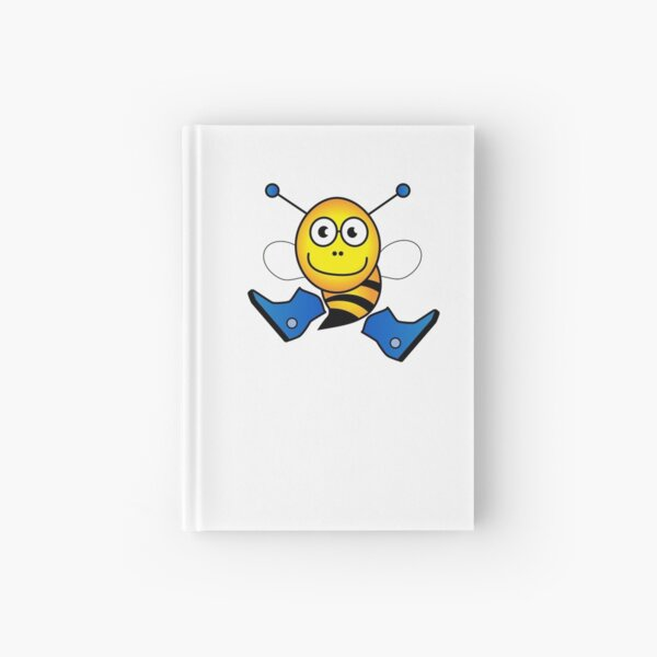 Boy bee in blue boots Hardcover Journal