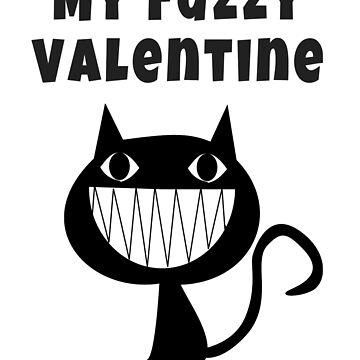 My Fuzzy Valentine - Cat Lover's Gifts by LolaAndJenny