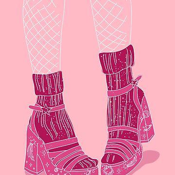 space heels with socks by anneamanda