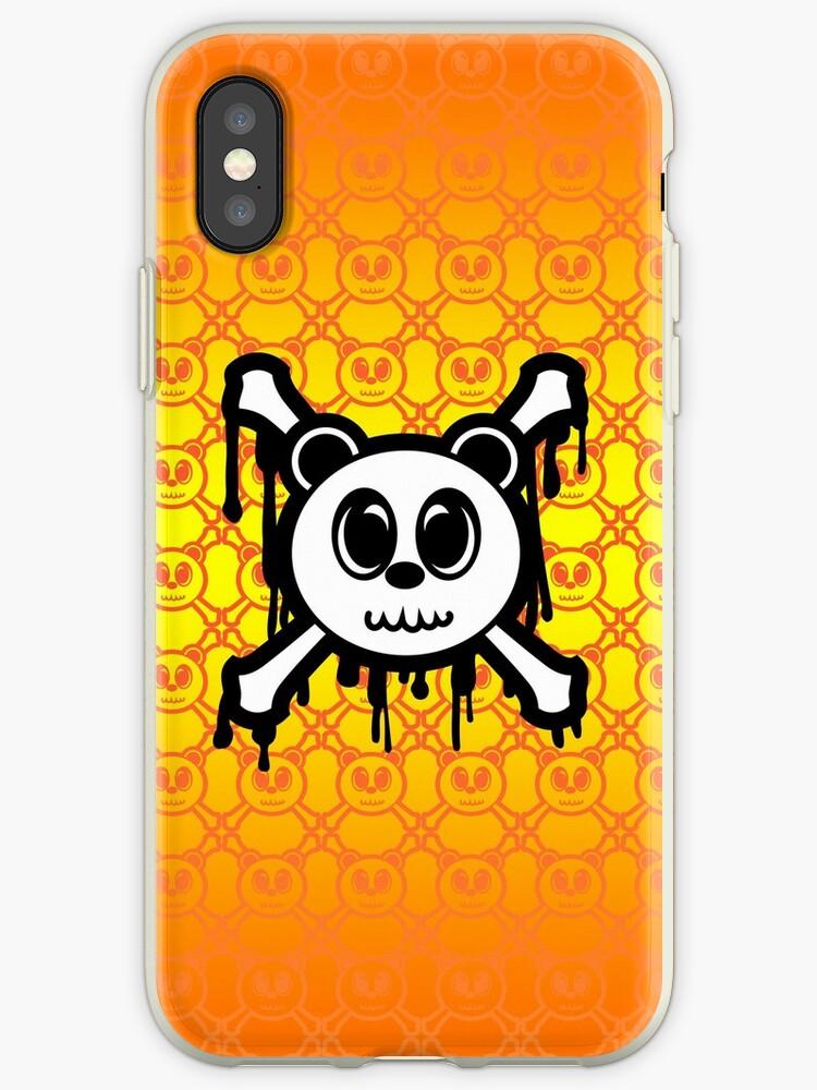 Panda Skull and Crossbones (Drippy Glow) Jolly Roger by frestyl
