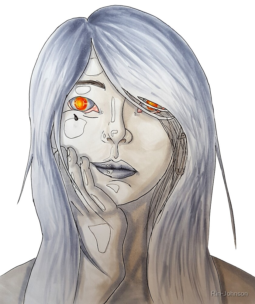Fire In Her Eyes By Rin Johnson Redbubble