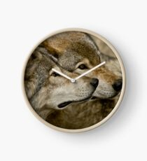 Timber Wolves Clock