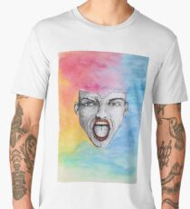 yell - scream - shout - wake up Men's Premium T-Shirt