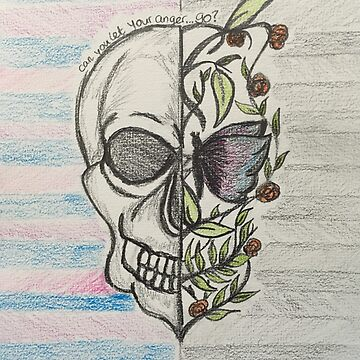 Skull sketch with rosi golan quote  by DinksiStyle