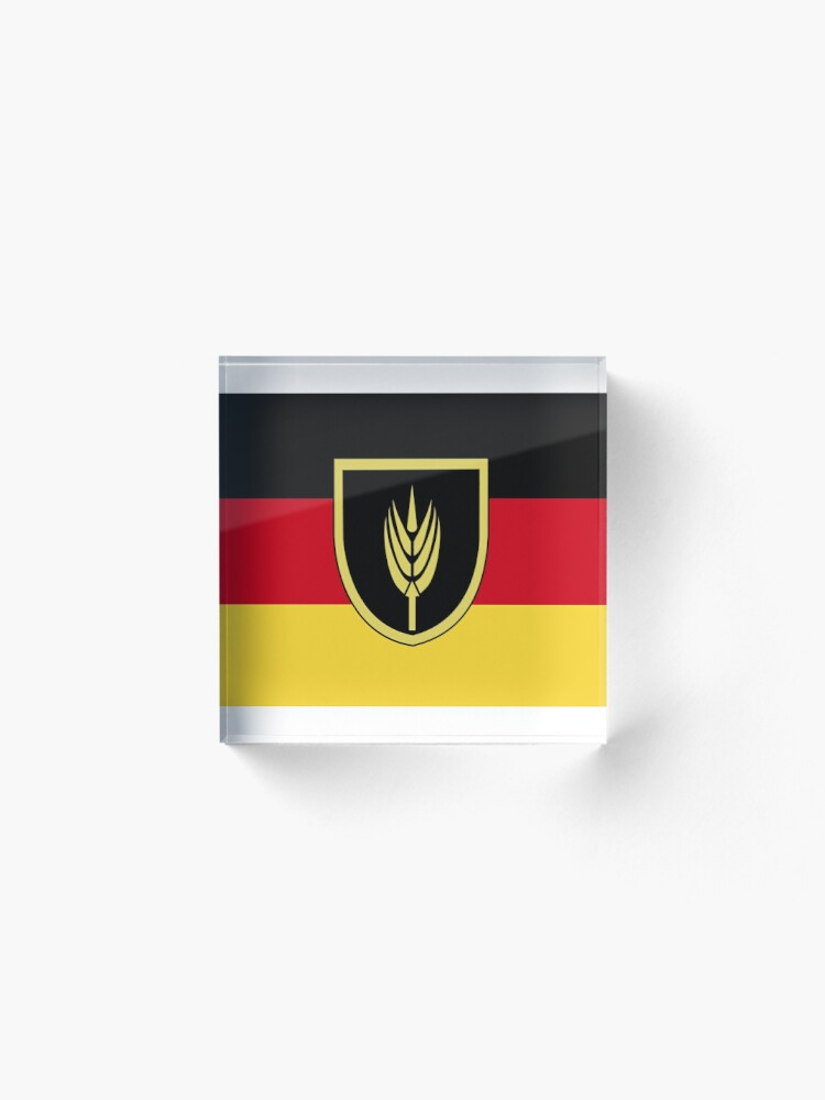 Alternate view of Flag of Volga Germans Acrylic Block
