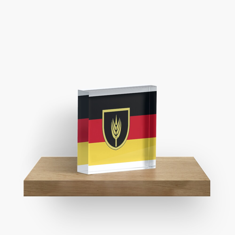 Flag of Volga Germans Acrylic Block