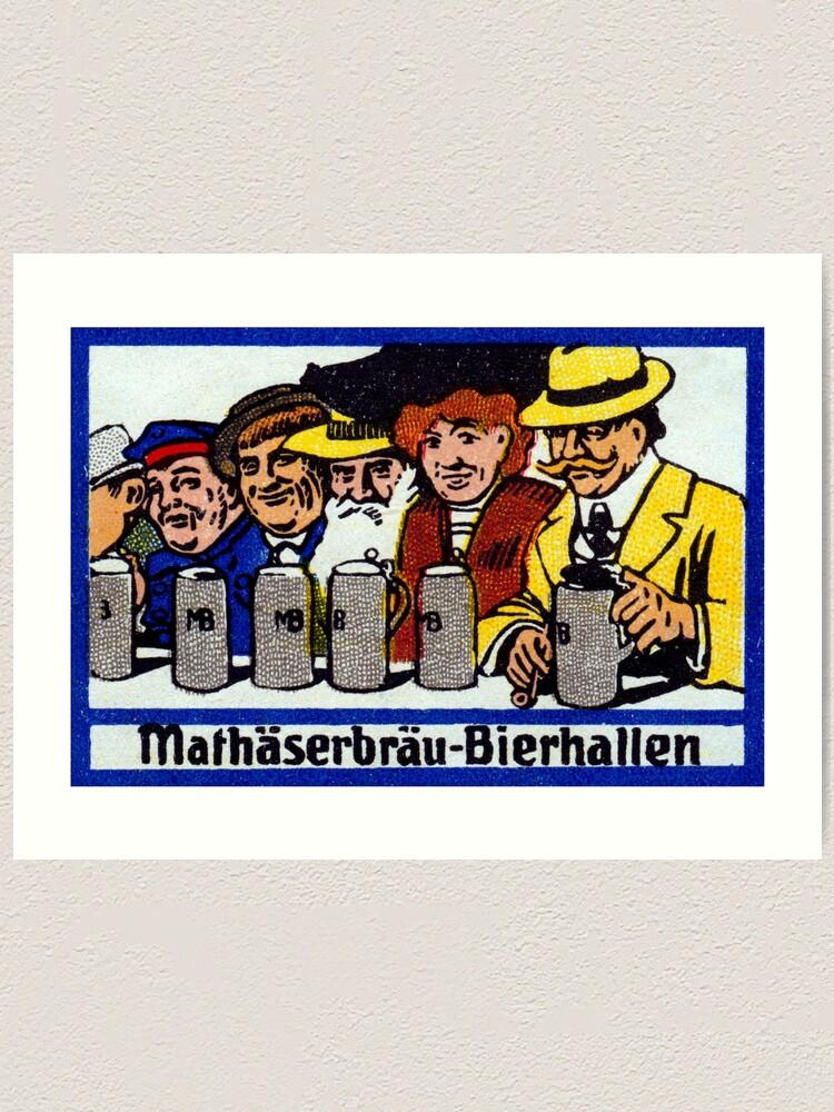 Art print POSTER Munich Beer Hall During Oktoberfest