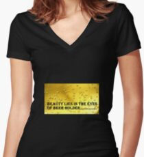 BEER QUOTES Women's Fitted V-Neck T-Shirt
