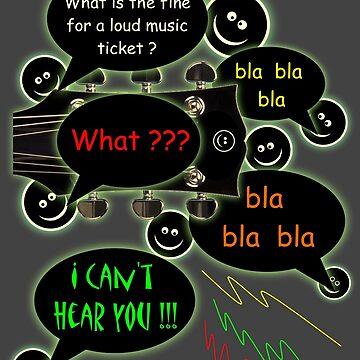 Loud music ticket cartoon by mayala