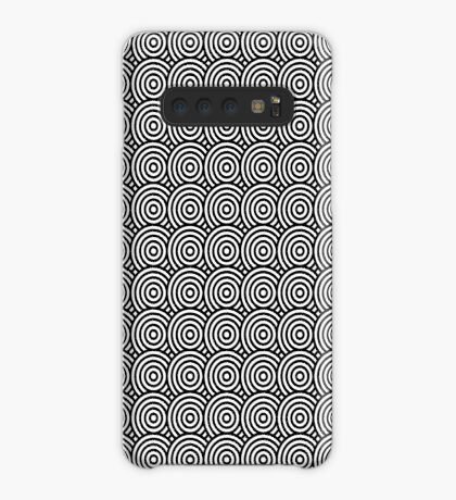Offset Concentric Circles Pattern 002 Case/Skin for Samsung Galaxy