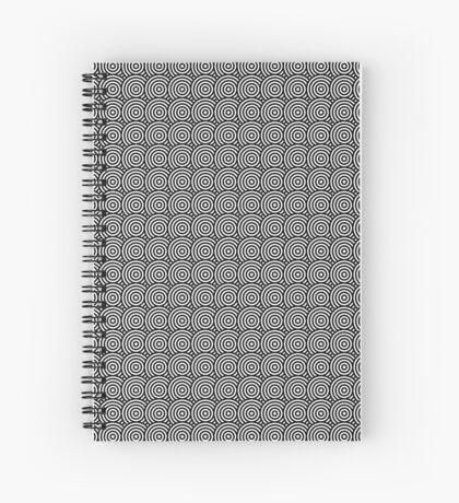 Offset Concentric Circles Pattern 002 Spiral Notebook