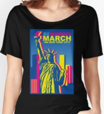 Womens March on new york 2018 Women's Relaxed Fit T-Shirt